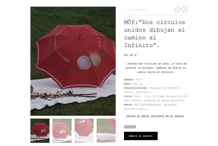 """"""" Dos Círculos Unidos Dibujan El Camino al Infinito"""".Paraguas Sinvergüenza pintado a mano por MÔf. www.moflasinverguenza.com"""
