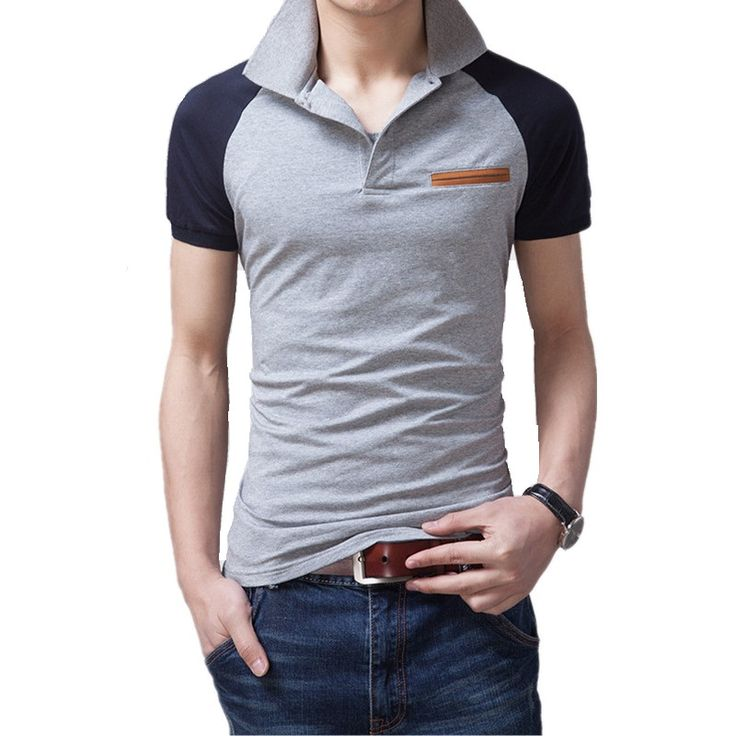 2016 Summer Style New Classic Contrast Colour polo Shirt Mens Designer polo Shirts Cotton  Casual Men Slim Fit polo Shirt M-3XL