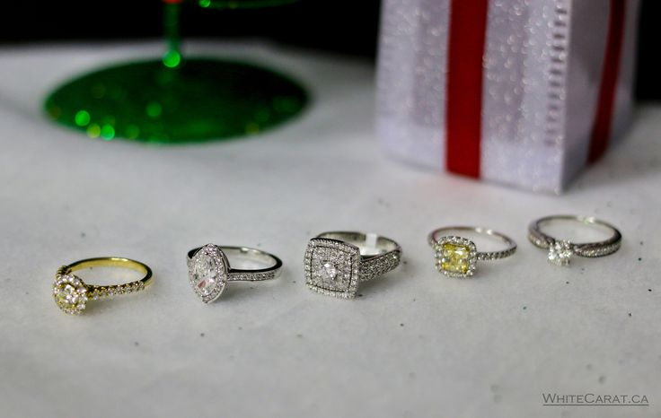 She doesn't have to dream about finding diamonds under the tree anymore. Find these gorgeous rings and more on WhiteCarat.ca!