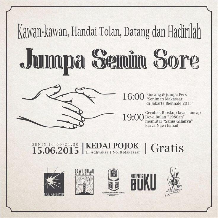 gerobak bioskop Dewi Bulan, Tanahindie, Makassar