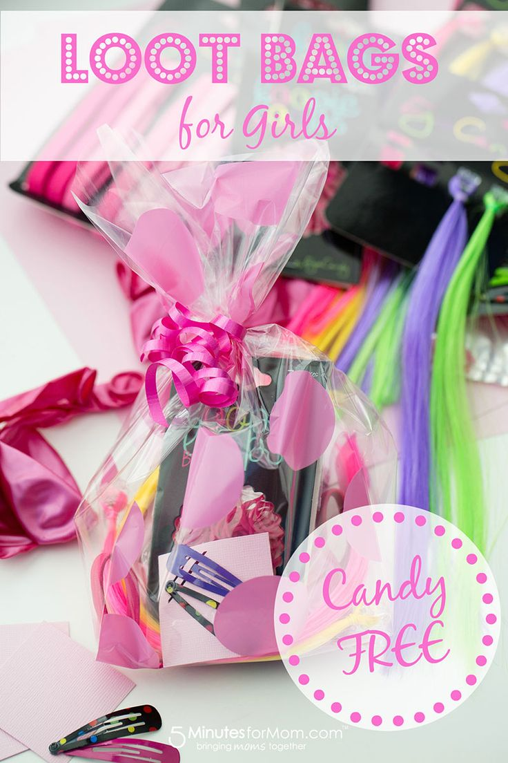 Birthday Loot Bag Idea for Girls -- Fun, Candy-Free, and Affordable! #birthday #parties (Shopkins Candy Cake)