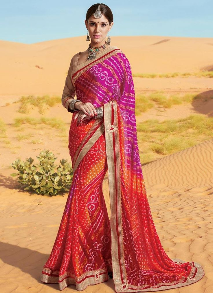 Online saree shopping from an exclusive collection of designer sarees. Buy this immaculate multi colour printed saree for festival and party.