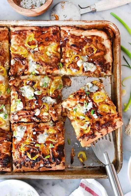 BBQ Blue Cheese Chicken Pizza