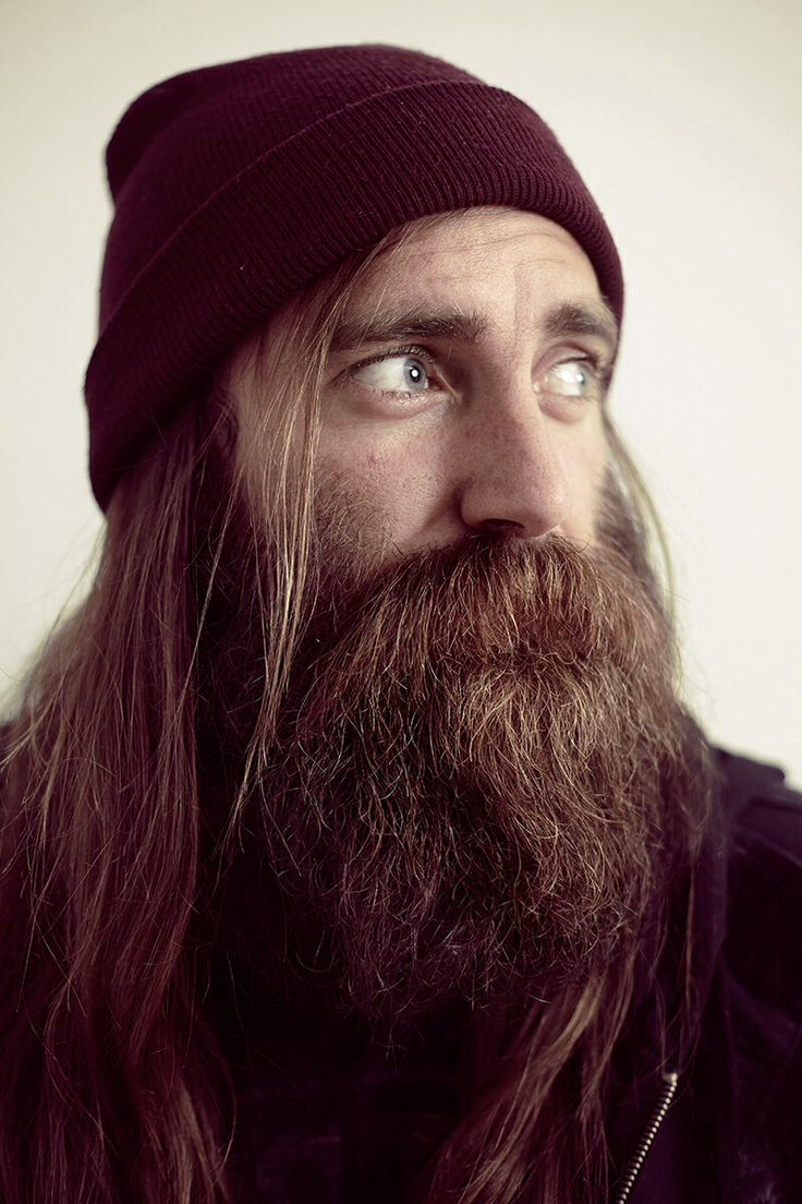 Chris Haslam, untrimmed. He trims the moustache, lets it go for a while and trims again.