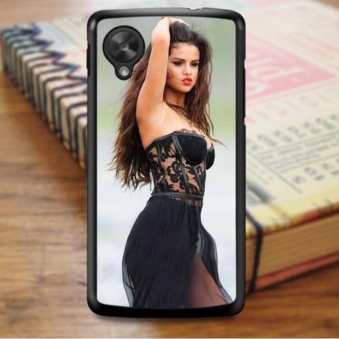 Selena Gomez Cute Red Lips Nexus 5 Case