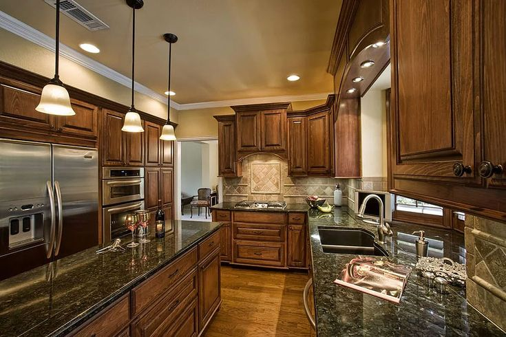 27 most popular green granite kitchen countertops in 2020 kitchen design kitchen on kitchen remodel dark countertops id=96978