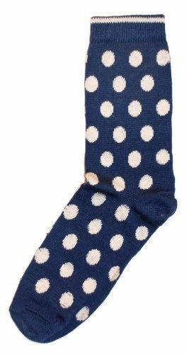 b. ella Blue White Polka Dot Womens Dress Sock « ShoeAdd.com – More Shoes For You Every Day