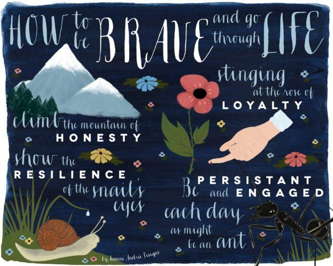 How to be Brave to go through Life - Mind Map - Jeanne Andrée Designs