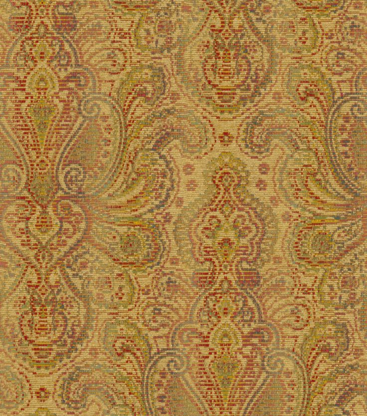 Home Decor Print Fabric-Waverly Beauclaire WheatHome Decor Print Fabric-Waverly Beauclaire Wheat,