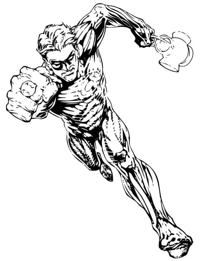 Free Green Lantern Coloring Pages In 2020 Princess Coloring Pages Green Lantern Comics Disney Princess Coloring Pages