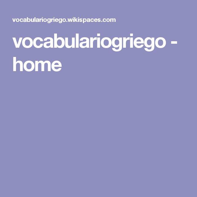 vocabulariogriego - home