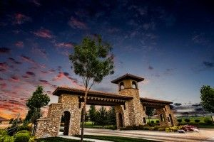 Awesome view of the main entrance to Corrente Bello in Eagle, Idaho.  Our Model home is just to the left.  #Boise #Idaho, homes for sale