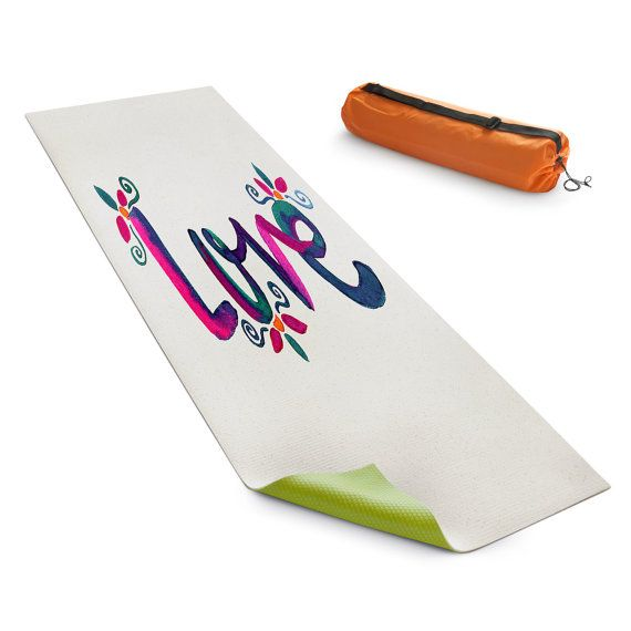 Love Yoga Mat by PomGraphicDesign on Etsy