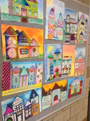 Art at Becker Middle School: Architectural House Drawings