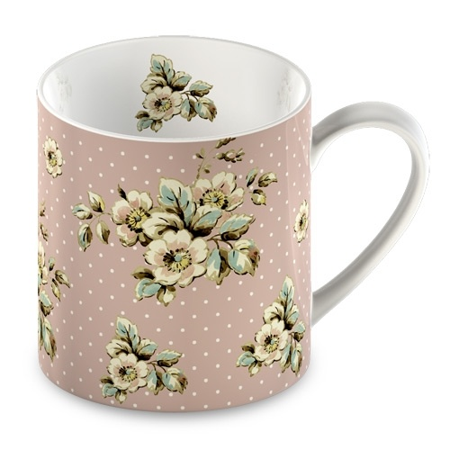 Katie Alice Fine China Cottage Flower Pink Floral Mug