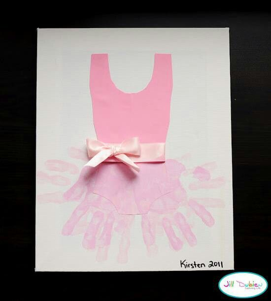 Hand print tutu!  How cute!