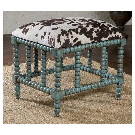 chahna ottoman cowhide print ottoman or stool joss u0026 main