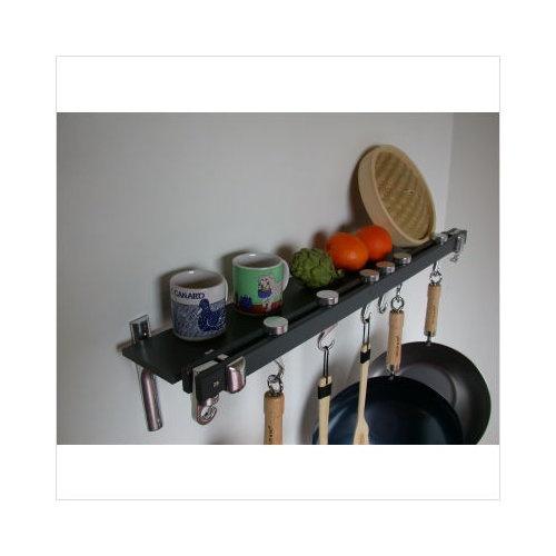 wall mounted pot rack and shelf $80.40 walmart