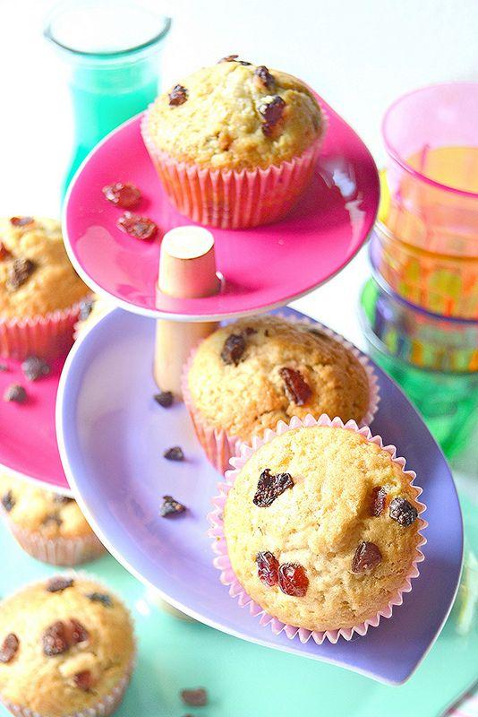 Dolci a go go: Muffin al mix di frutti rossi essiccati