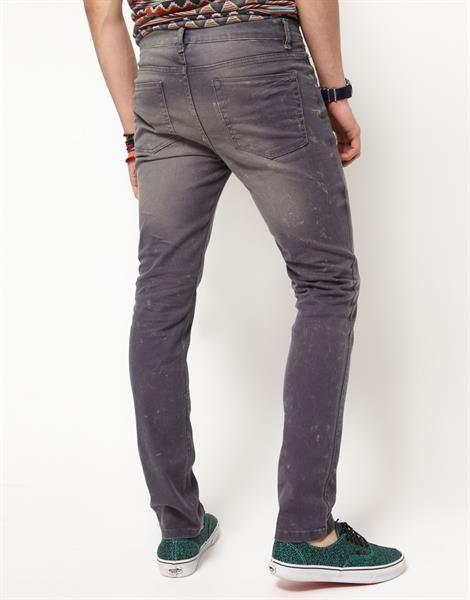 Узкие джинсы мужские серые цена