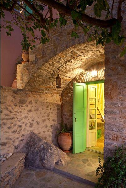 Colourful bakery home Symi Island, Greece