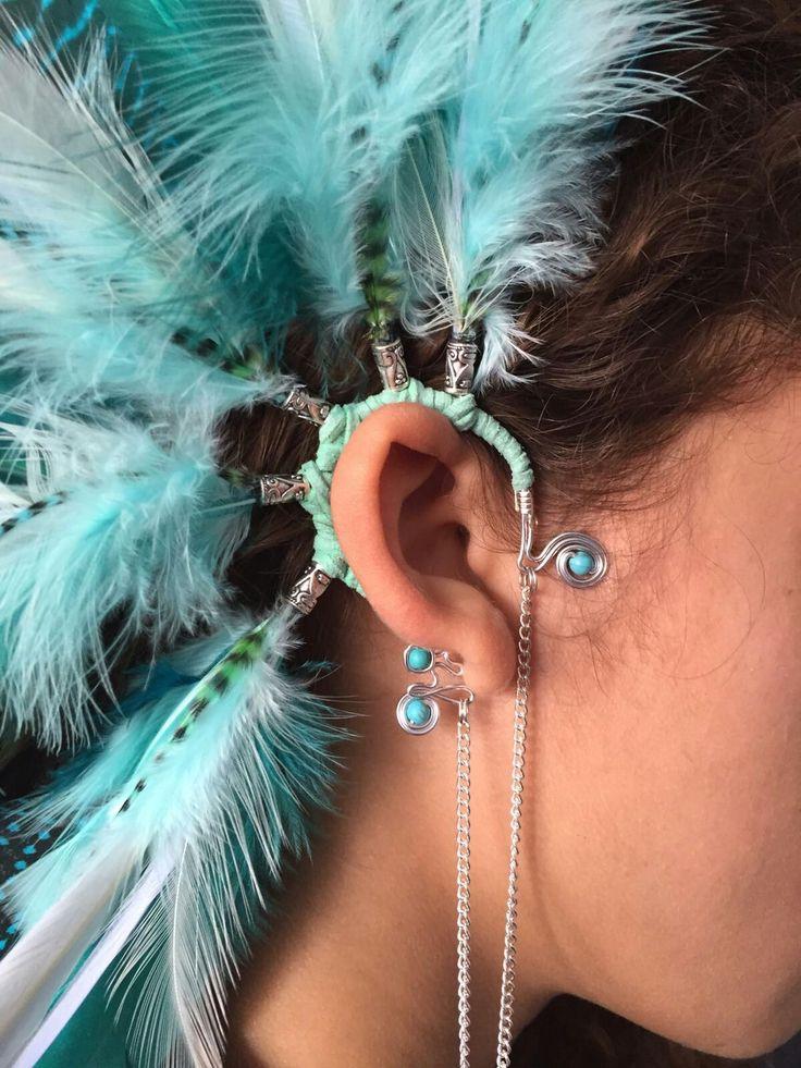Beautiful turqois earcuff for summer festival