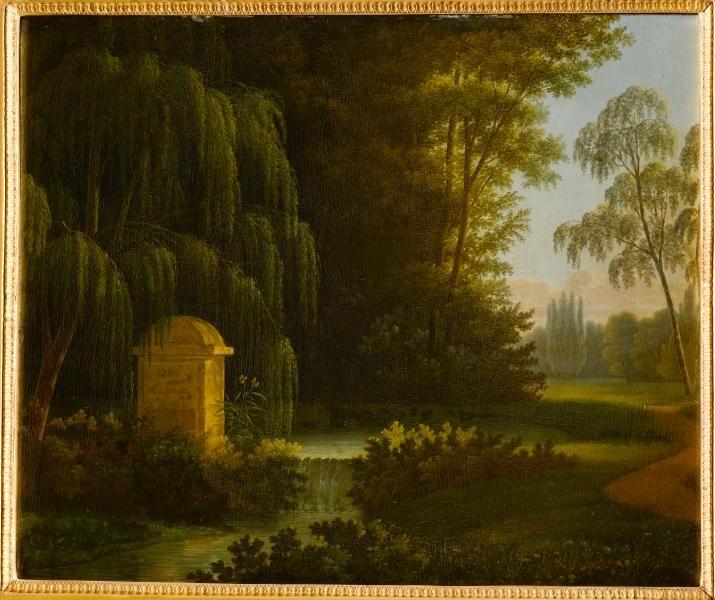 """Antoine-Honoré-Louis Boizot, """"La fontaine des Amours dans le Bocage"""" ( Vue du parc d'Ermonville)"""