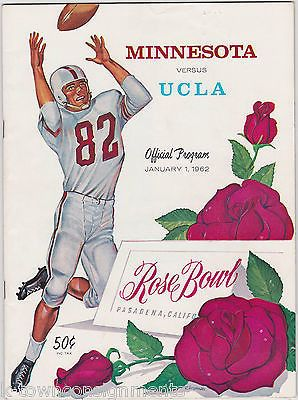 MINNESTOA VS. ULCA VINTAGE NCAA COLLEGE ROSE BOWL FOOTBALL GAME PROGRAM & TICKET