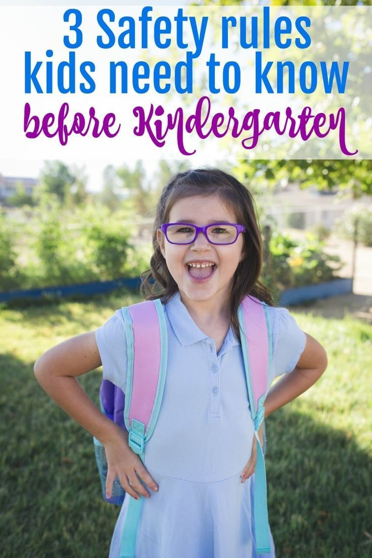 Safety rules for kindergartners