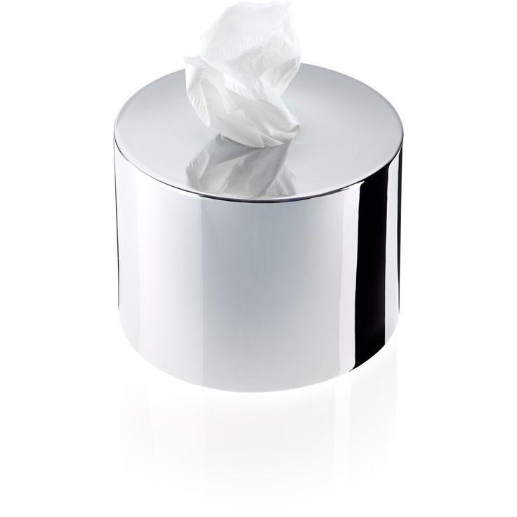 DWBA Round Brass Tissue Box Holder Cover Tray Dispenser Tissue Case for Bath