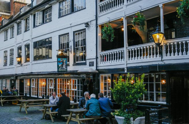 The George Inn -- Charles Dickens was a frequent visitor of The George Inn, and he even mentioned it in Little Dorrit (15 Must-See Literary Sights in London | Fodors)
