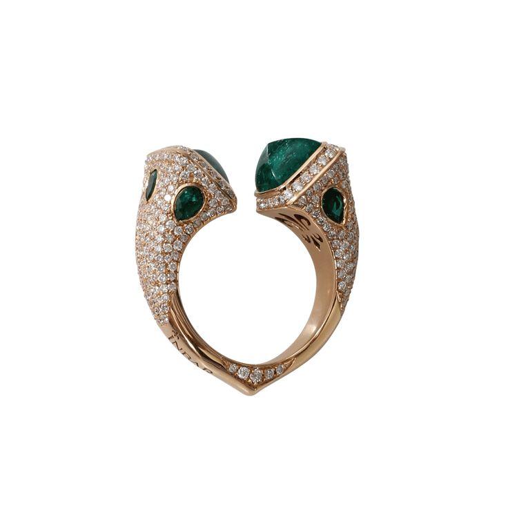 $23,675 Emerald Bypass Ring | Marissa Collections INBAR