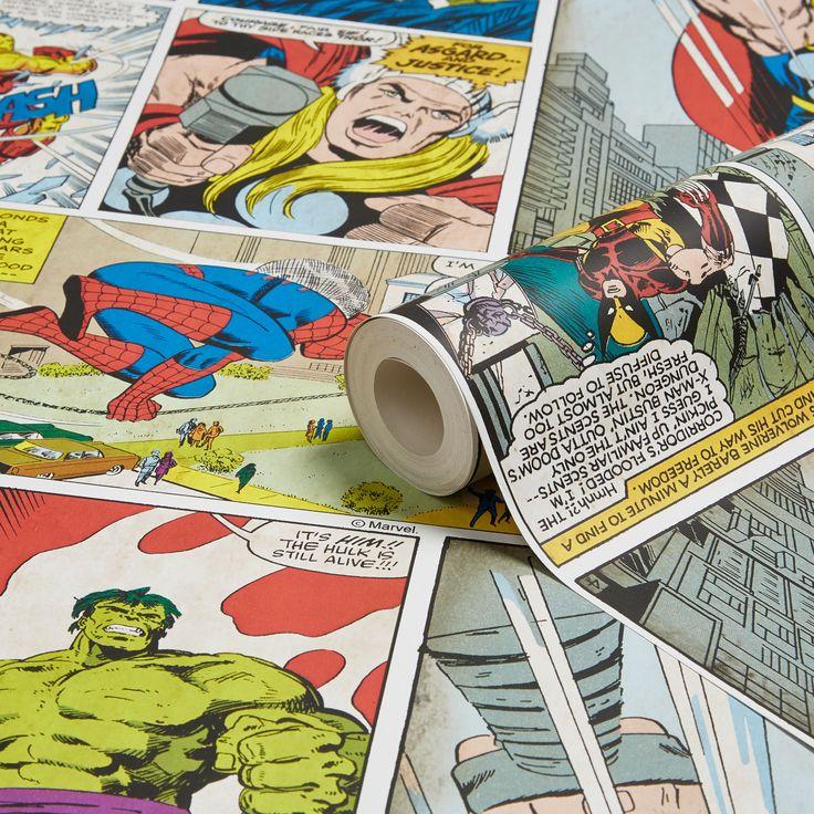 Marvel Comic Strip Children's Wallpaper | Departments | DIY at B&Q
