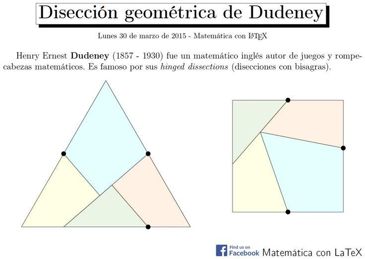 Dudeney's hinged dissections. www.facebook.com/matematicaconlatex