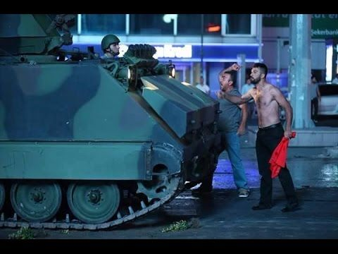 Breaking news  Military Coup in turkey,airports bridges closed  tank in ...