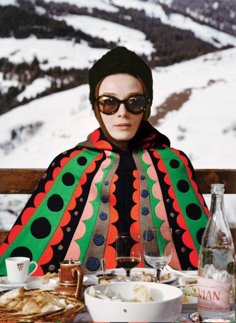 Audrey Hepburn in Valentino, Charade.