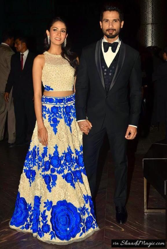 Mira in Lehenga by Manish Malhotra.