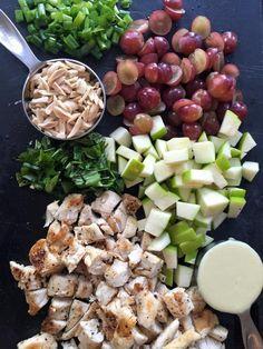 21 Day Fix Chicken Salad Recipe and homemade dressing. Healthy Recipes via Suppresso Coffee