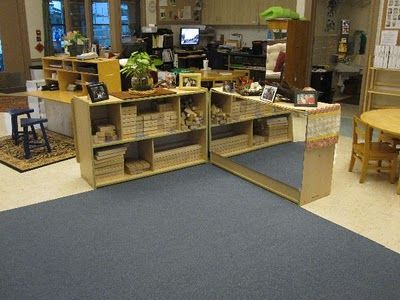 This is an amazing Reggio Emilia classroom--I love the prepared environment. The entire blog is worth going through as well!