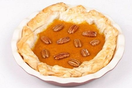 Pumpkin filo pie