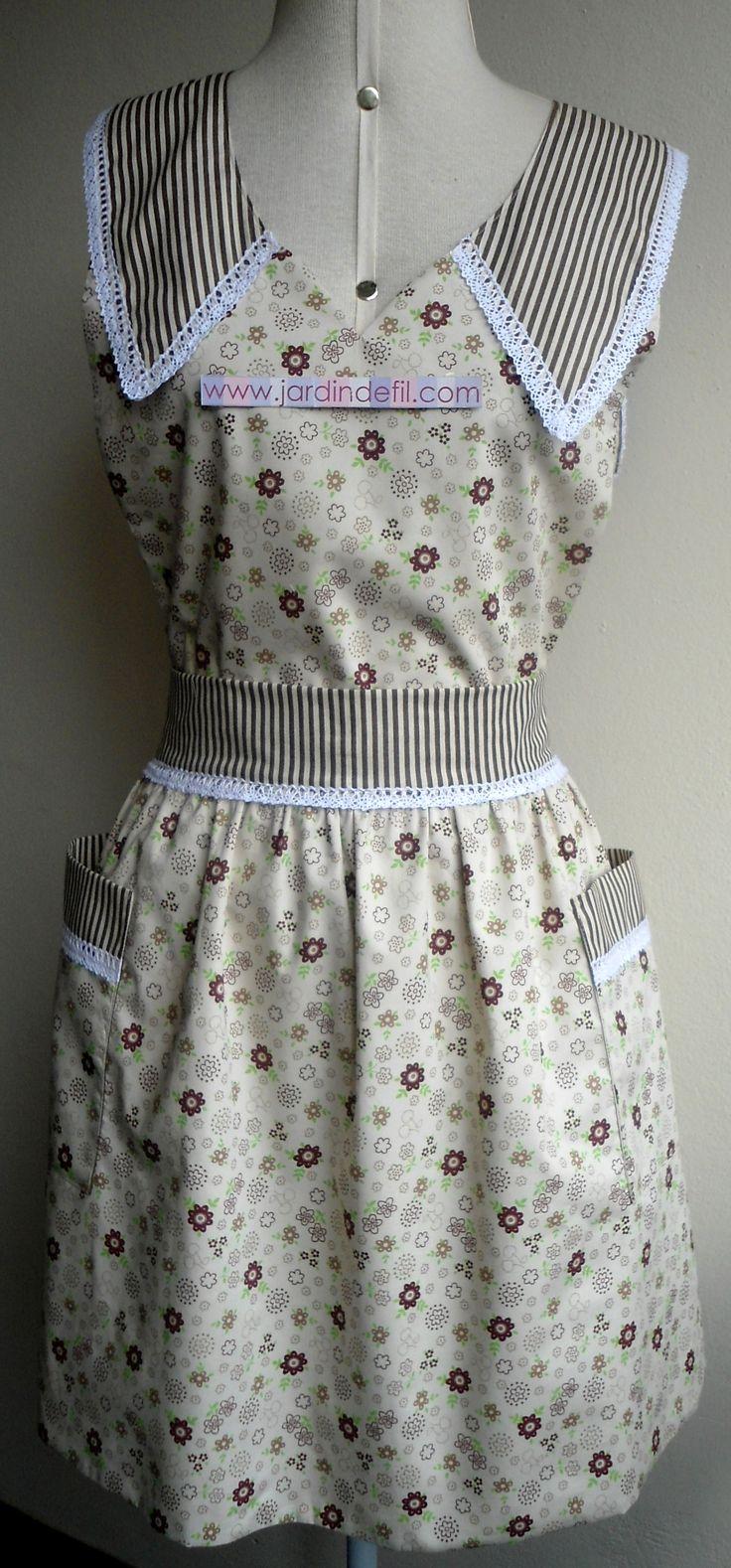 Avental Vintage, forrado em tecido 100% Algodão.