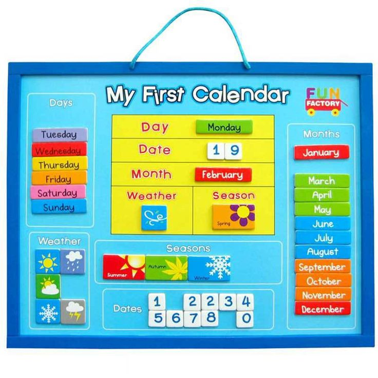 Buy Wooden Magnetic My First Learning Calendar Online at Toy Universe