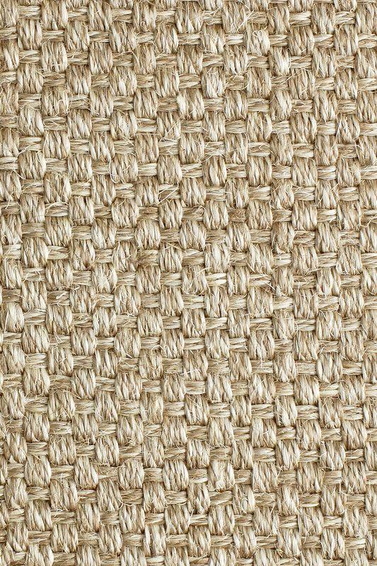 Luxe sisal rug in Silver Topaz colorway, by Merida.
