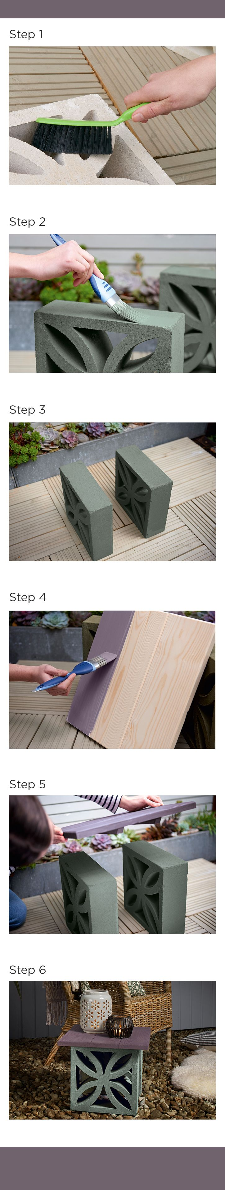 Create a bespoke outdoor garden table with this Cuprinol How To guide.