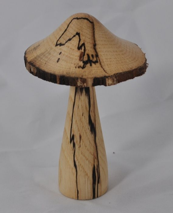 mushroom made of spalted oak