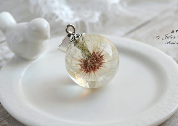 Real Dandelion Flower Resin Necklace Dandelion In Resin Necklace Dandelion Gift Dandelion Nature Necklace Real Flowe Resin Necklace Resin Crafts Handmade