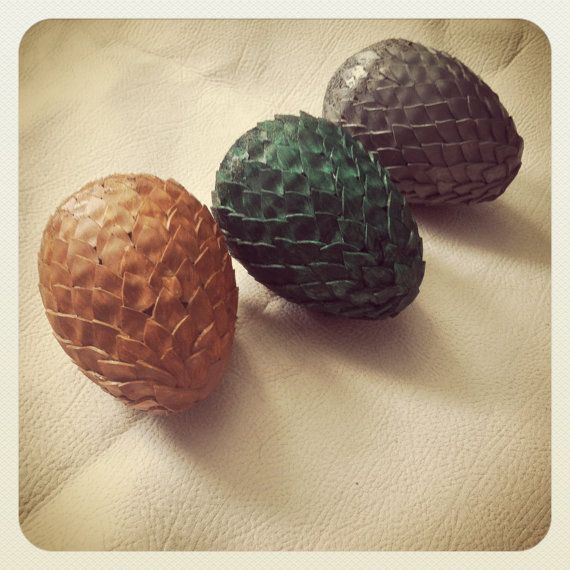 Dragon Eggs - either use paper cutouts and glue them on a Styrofoam egg or use metal flat-head push pins.