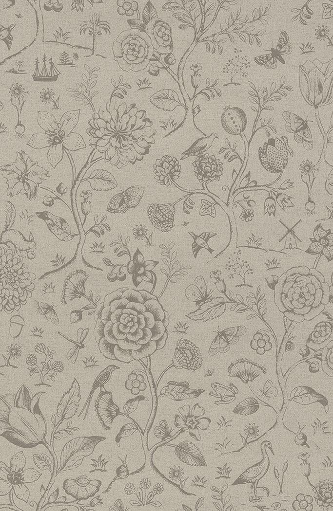 Afbeelding van Spring to Life two tone behang khaki