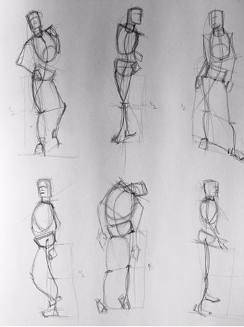 Week 1: The Gesture Drawing the figure begins with the gesture. A gesture drawing is a very quick sketch, sometimes only a few lines, and is usually completed in one to five minutes. The purpose of...