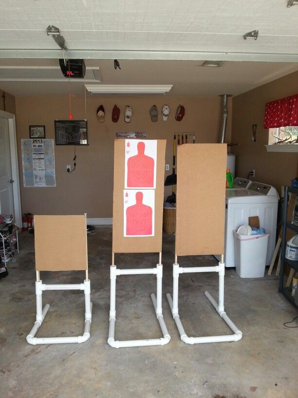 Finished project. PVC target stands.